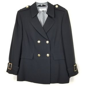 Tahari Arthur S. Levine Blazer Plus Size 18 Black